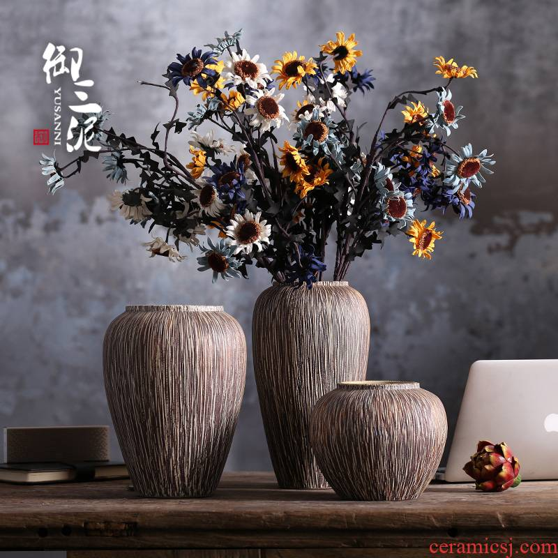 Jingdezhen ceramic vase furnishing articles sitting room flower arranging all over the sky star, Nordic small pure and fresh and dried flowers hydroponics ins style