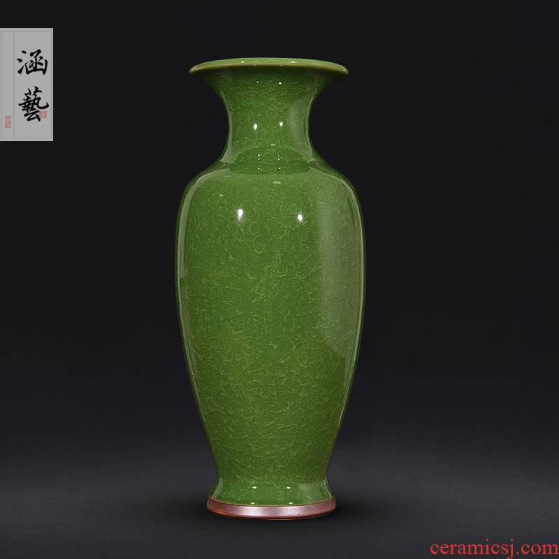 Jingdezhen ceramic vase archaize of jun porcelain up borneol sitting room of Chinese style household flower adornment handicraft furnishing articles