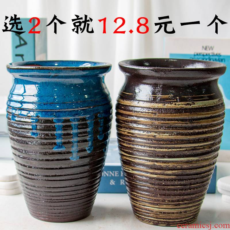 Many Chinese rose flower pot through pockets tao old running more meat the plants to heavy purple orchid ceramic POTS mage flowerpot