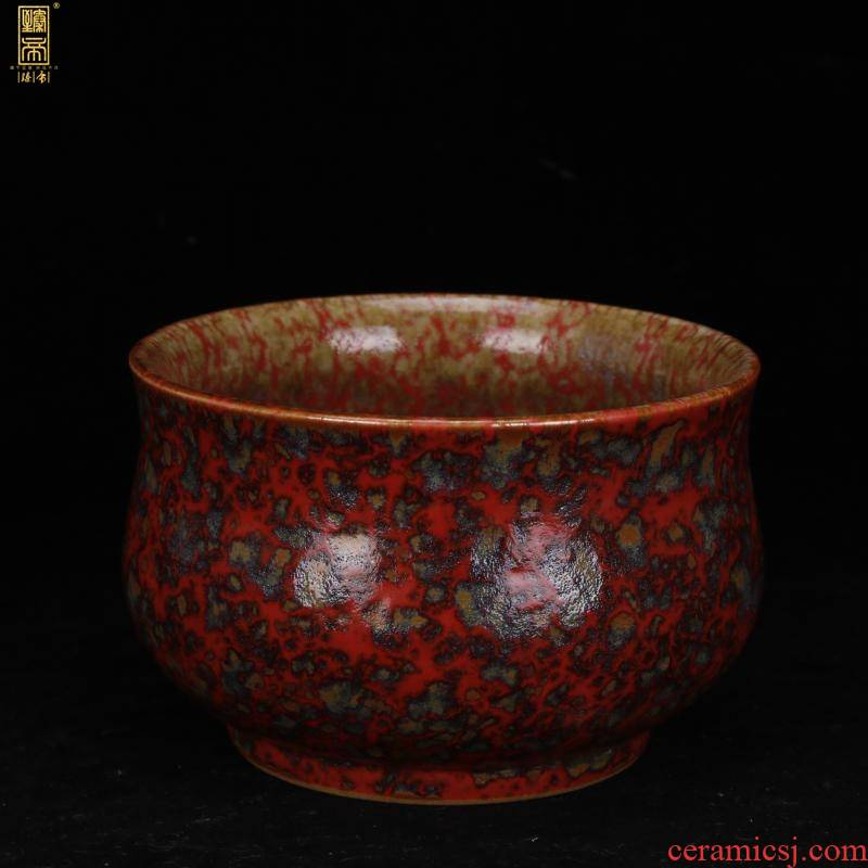 Jingdezhen folk old object variable red glaze washed small POTS do old old antique handicraft furnishing articles