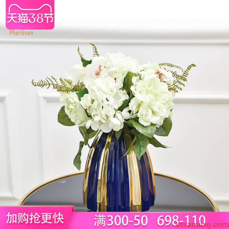 I and contracted sitting room desk ceramic flower arranging furnishing articles European table dry flower simulation flower creative porcelain porcelain