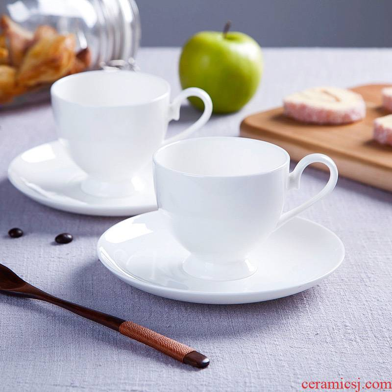 Jingdezhen European - style ipads porcelain white ceramic cup afternoon tea set creative household soft outfit coffee cups and saucers send the spoon