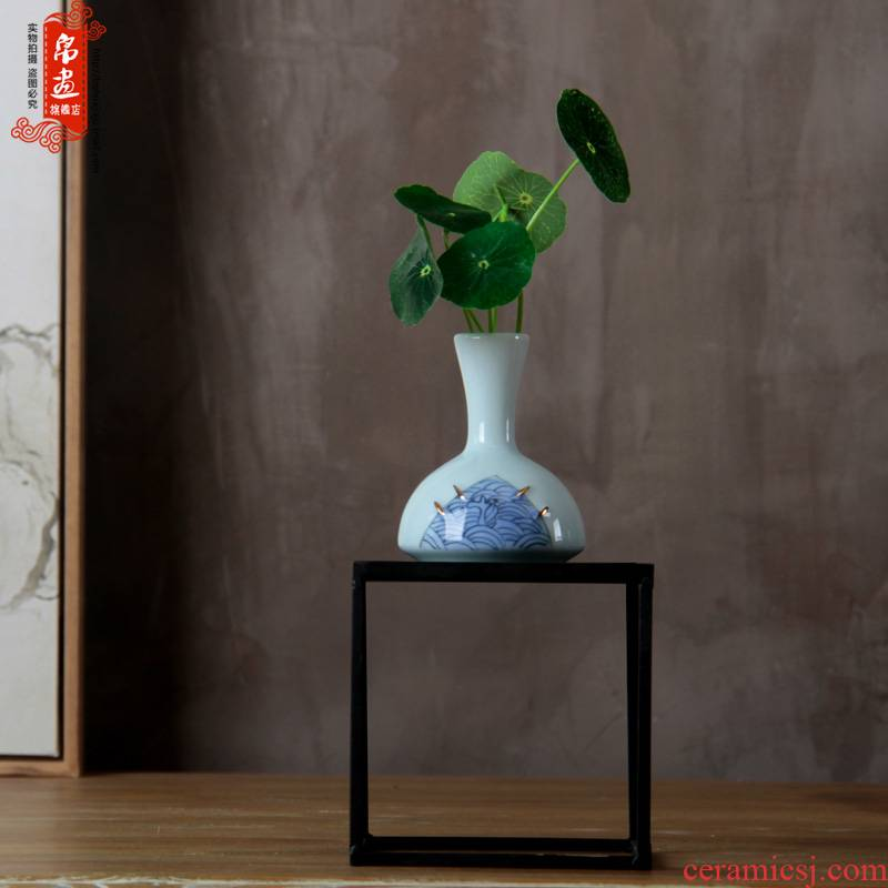 Jingdezhen ceramics flower implement Chinese penjing flower arranging, small white porcelain wine crafts home decoration