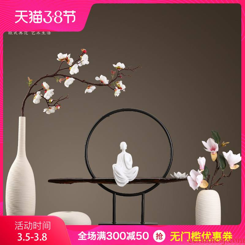 The New Chinese vase creative ceramic sitting room type dry flower vase is contracted and I adornment light key-2 luxury zen furnishing articles