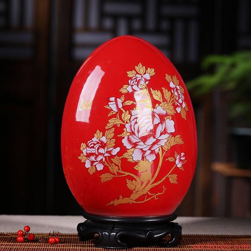 Jingdezhen ceramic vase decoration furnishing articles sitting room porch flower arranging Chinese large household decoration wedding gift
