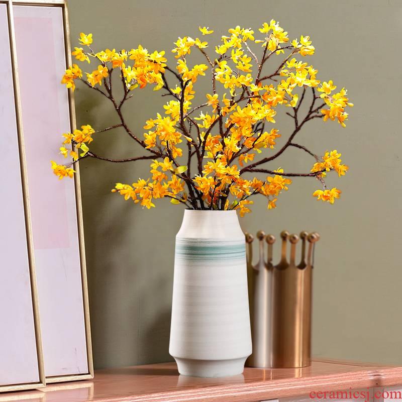 Primrose, European vase furnishing articles sitting room TV ark, contracted ceramic dried flowers flower arrangement table simulation flower decoration
