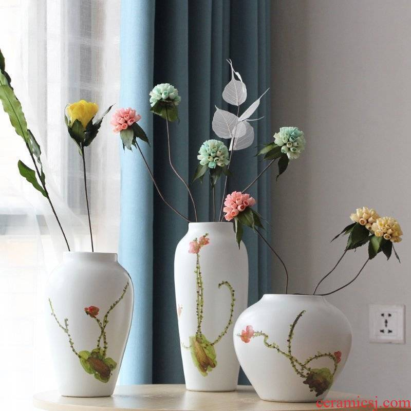 I and contracted new Chinese hand - made ceramics vase model household adornment desktop furnishing articles dry flower flowers in the living room
