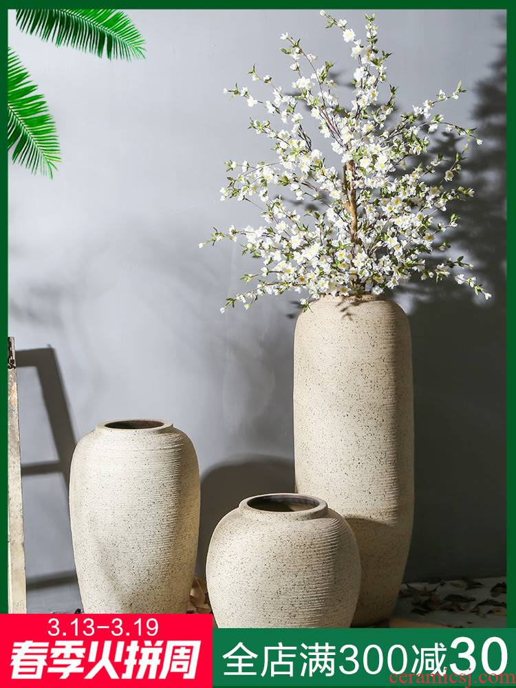 Jingdezhen ceramic floor nostalgic restoring ancient ways vase hotel coarse TaoHua between sitting room, dining - room study example furnishing articles