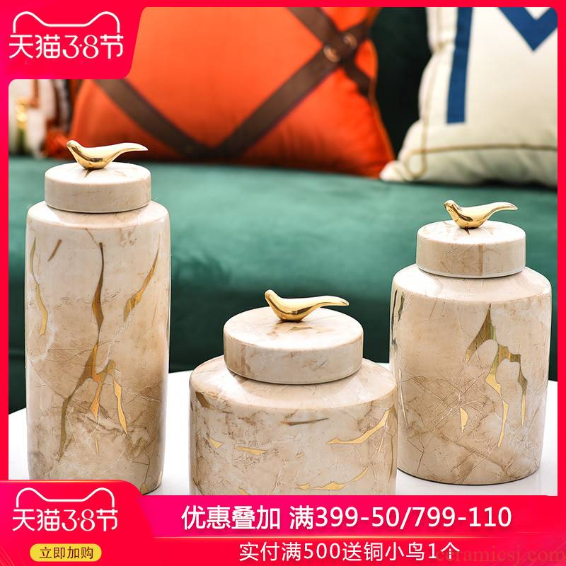 New Chinese style household act the role ofing is tasted ceramic vases, flower arranging flower implement furnishing articles quality of modern home decoration home decoration