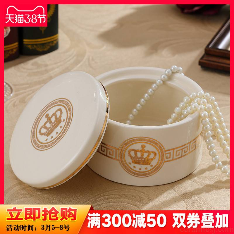 European ceramics receive a box of desktop storage tank furnishing articles household receive jewelry box ornaments