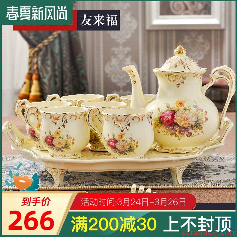 Ceramic kettle suit cold heat to hold to high temperature cool kettle high - capacity cool juice pot pot of water with the teapot