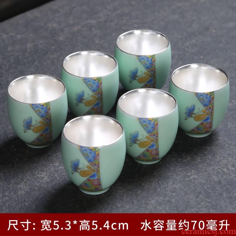 Celadon kung fu ceramic cups single master cup noggin single sample tea cup a cup of tea cups of tea