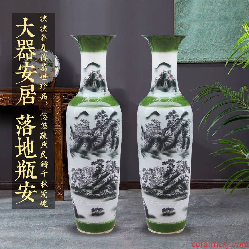 Splendid sunvo e179 jingdezhen ceramics color ink landscape painting of large vases, restoring ancient ways is the sitting room adornment