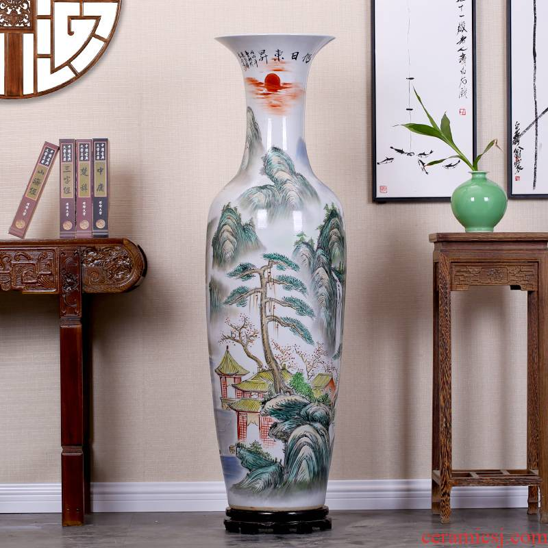 Jingdezhen sitting room of large vases, sun dongsheng hand - made porcelain decorations study hotel large furnishing articles