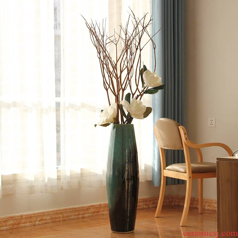 Modern American European Mediterranean style ceramic color glaze floor vases, home furnishing articles sitting room adornment