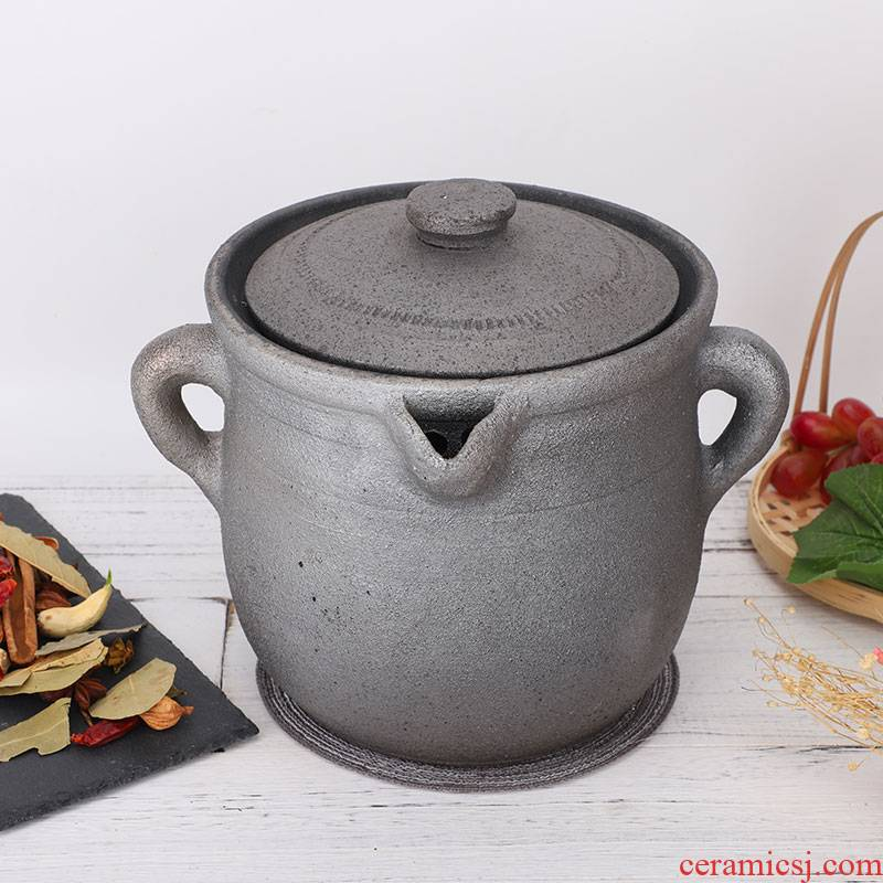 Sichuan ya pan medicine pot of traditional old clay unglazed gas household tisanes can household an earthenware pot