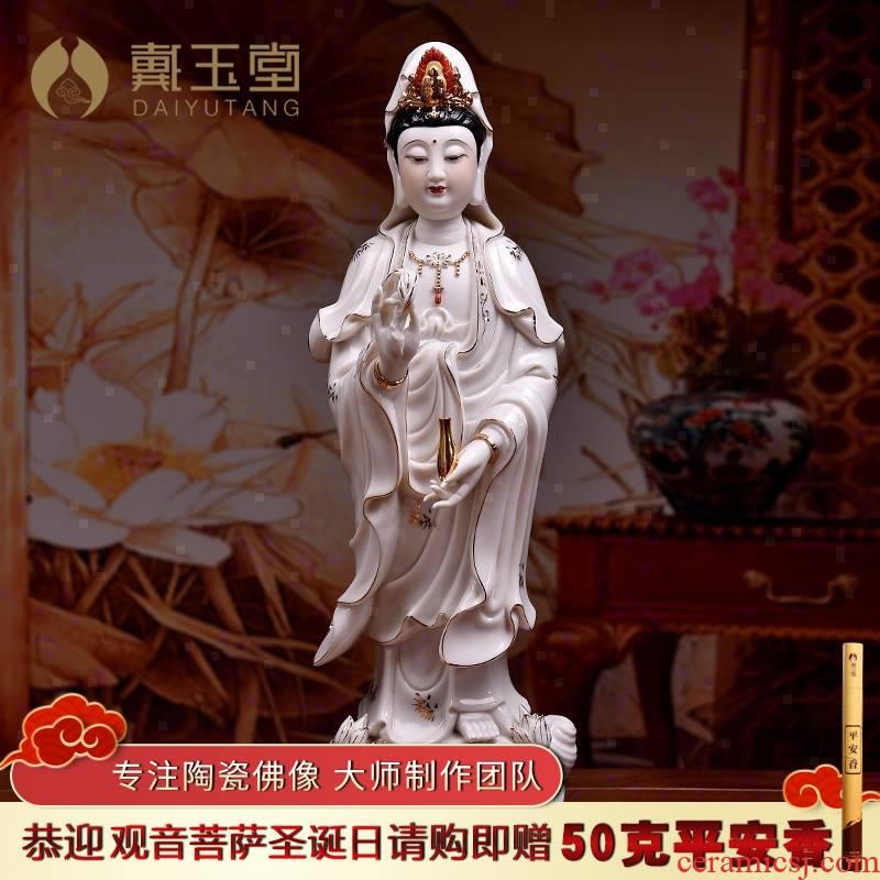 Yutang dai ceramic across indicates the sea goddess of mercy corps Buddha standing like a sacrifice that occupy the home furnishing articles household Bai Jincai avalokitesvara