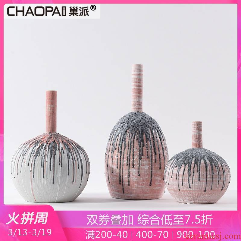 Individual design ceramics furnishing articles between example of new Chinese style in the hall, side what shoe cabinet mesa vase decoration
