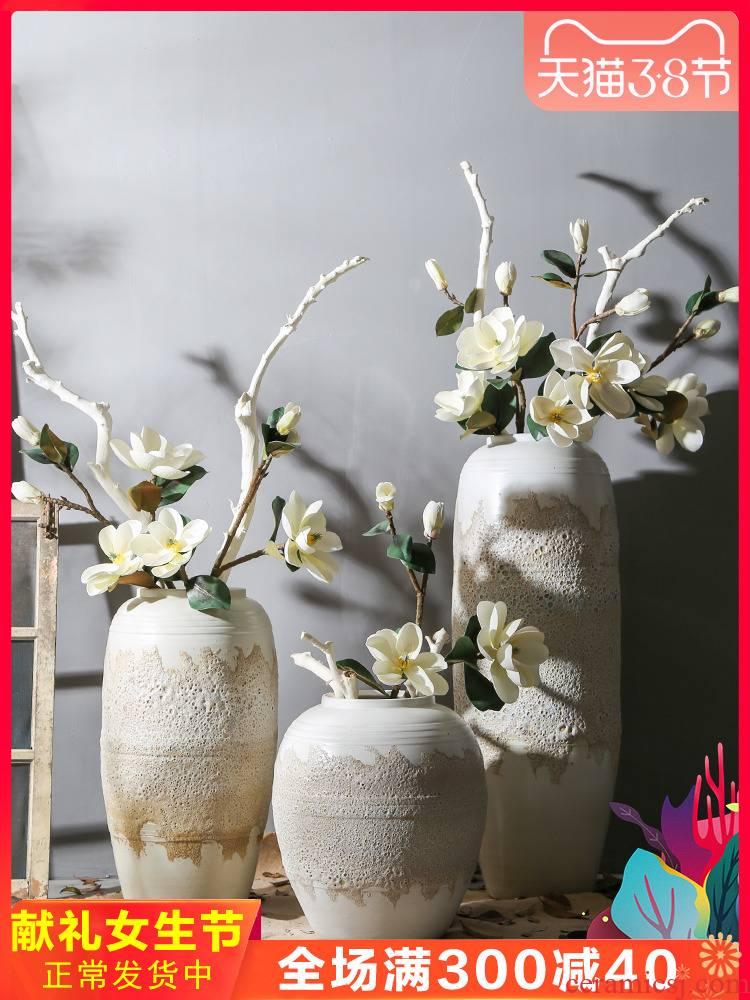 Jingdezhen creative restoring ancient ways of large vase decoration to the hotel villa garden club hall floor floral decorations