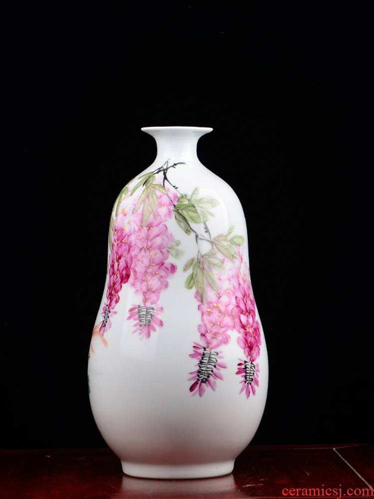 The Master of jingdezhen ceramics hand - made pastel vases, flower arrangement of prosperity home sitting room adornment is placed