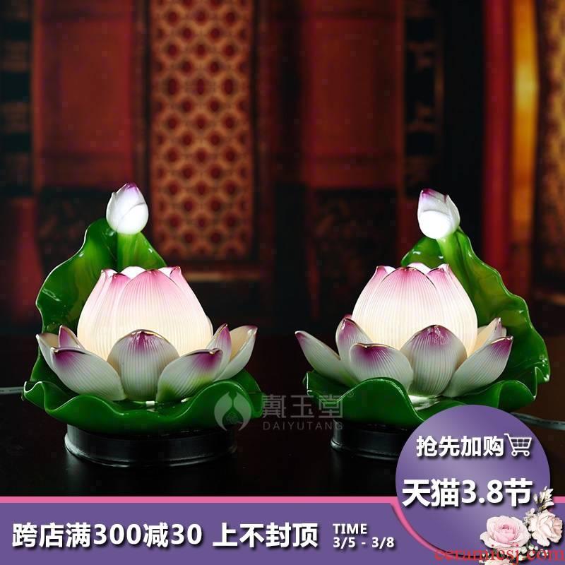 Yutang dai ceramic supplies decorative light temple Buddha before Buddha to home for the Buddha lotus lotus GongDeng furnishing articles