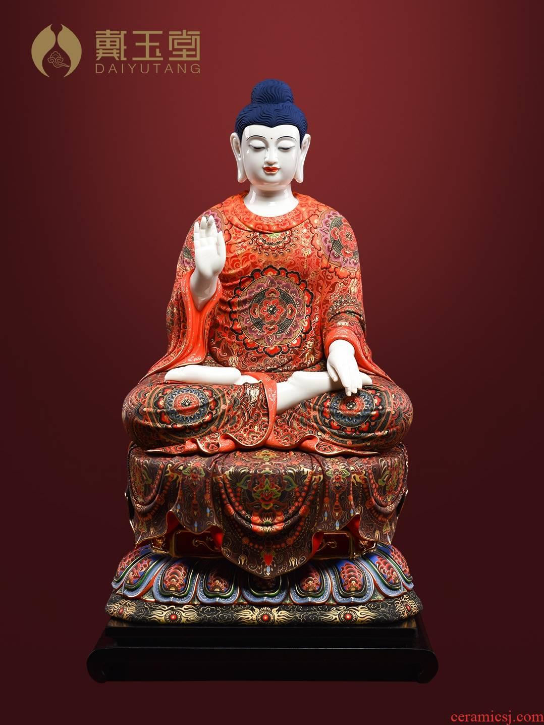 Yutang dai ceramic Buddha statute to occupy the extremely Buddha shakyamuni Buddha had handicraft furnishing articles