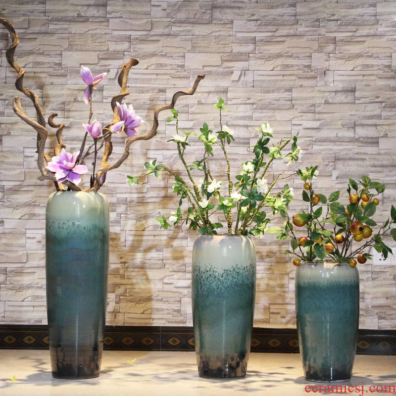 Jingdezhen ceramic hotel villa covers Chinese vase of large sitting room porch flower decoration flower arranging furnishing articles