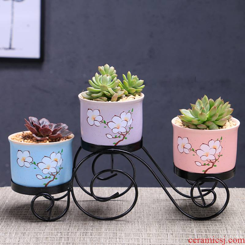 Marca dragon flowerpot ceramic large special offer a clearance package mail more than other small meat the plants flower pot, wrought iron pallets