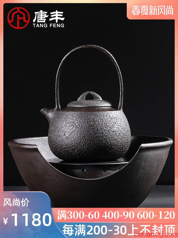 Tang Feng cast iron kettle suit retro move electric TaoLu household contracted iron pot of big capacity of cast iron pot of 190051