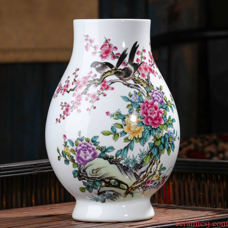 Jingdezhen ceramics Chinese vase flower arranging big household adornment furnishing articles, the sitting room porch TV ark, arts and crafts