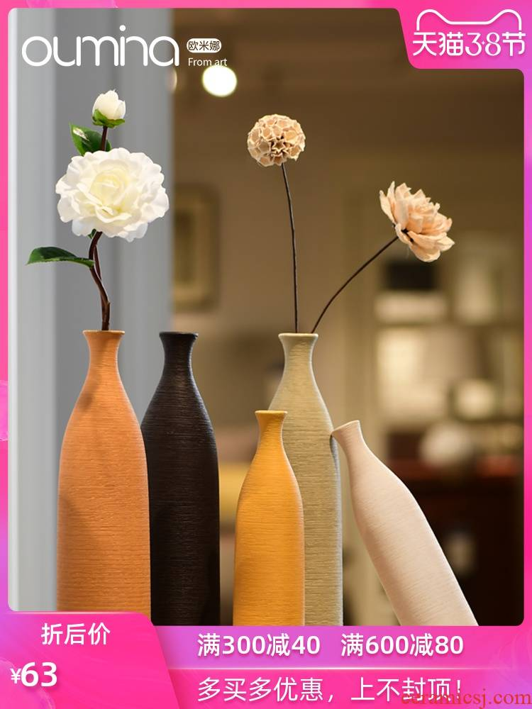 Nordic contracted ceramic dry flower, flower implement creative home furnishing articles flower arranging home sitting room table decorations, small ornament
