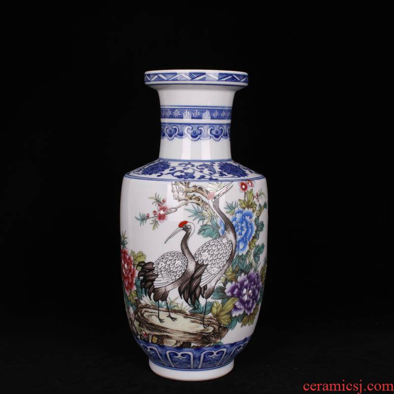 Jingdezhen imitation the qing pastel riches and honour peace were bottles of Chinese style restoring ancient ways to live in the sitting room porch TV decorative furnishing articles
