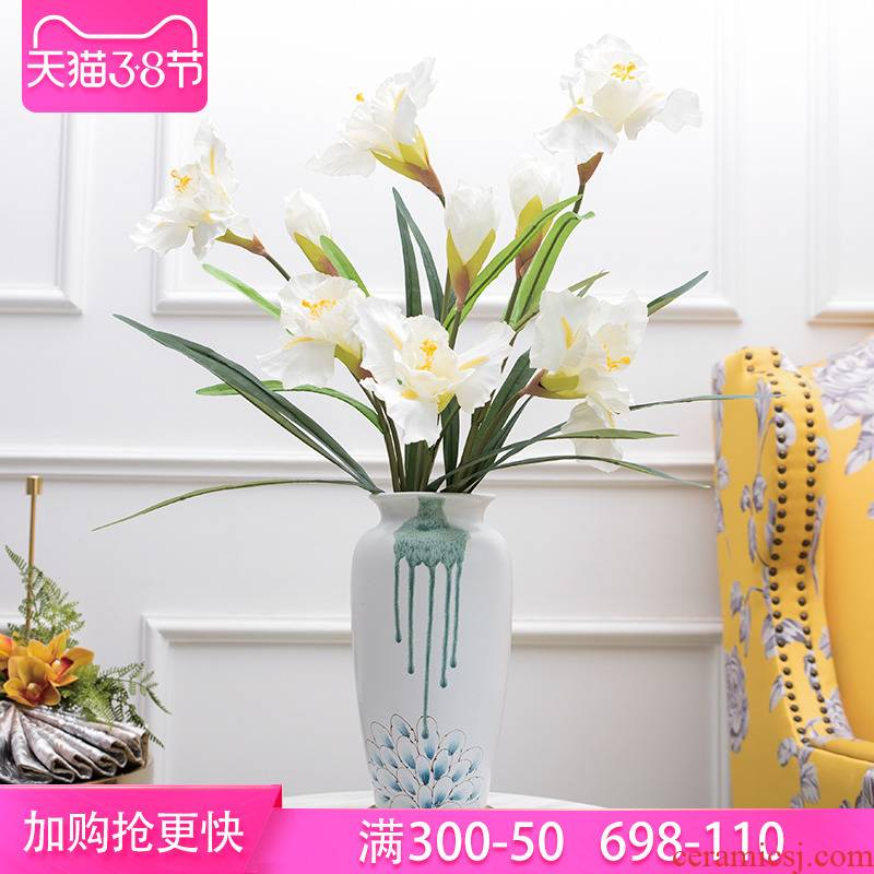 Mesa of new Chinese style ceramic vases, flower adornment rich ancient frame TV ark, place of the sitting room porch decoration restoring ancient ways