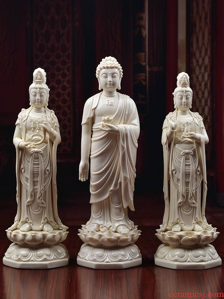Yutang dai western three holy spirit like ceramic Buddha to occupy the home furnishing articles Buddha amitabha advertised to