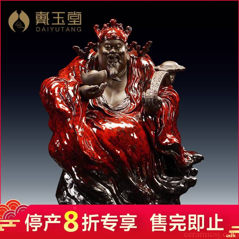 Ceramic production is pulled from the shelves 】 【 god of fortune of Buddha handicraft furnishing articles