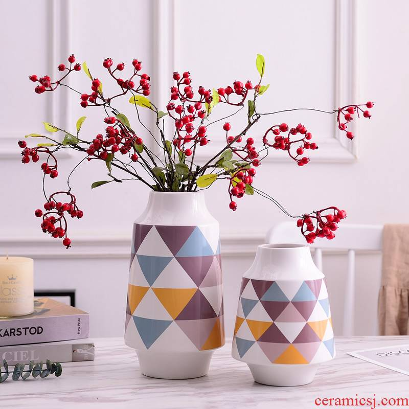 Ceramic vase Nordic contracted place ins style living room table hydroponic flowers creative decorative dried flowers flower arrangement