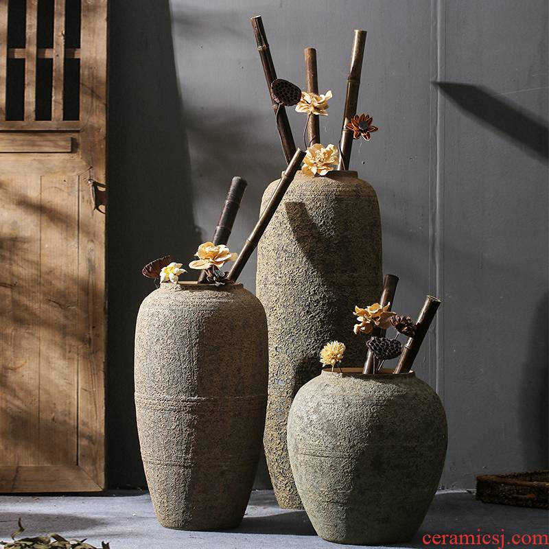 Sitting room ground simulation flower vases, decorative dried flowers restore ancient ways home furnishings jingdezhen nostalgic ceramics decoration furnishing articles