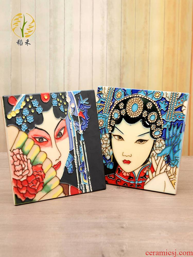 Ceramic hand - made porcelain plate painting Peking Opera with Chinese characteristics sitting room, dining - room metope adornment porch hang a picture to send to the foreigner