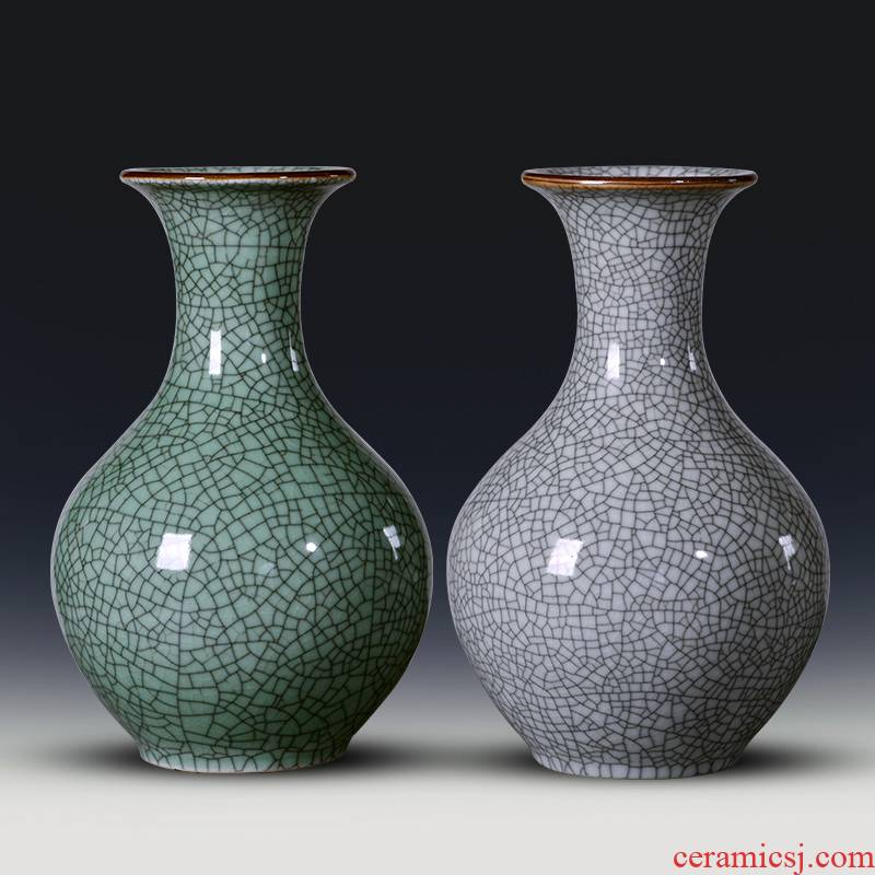 Jingdezhen porcelain antique vases, ceramic furnishing articles sitting room flower arranging new Chinese style household TV ark, wine accessories