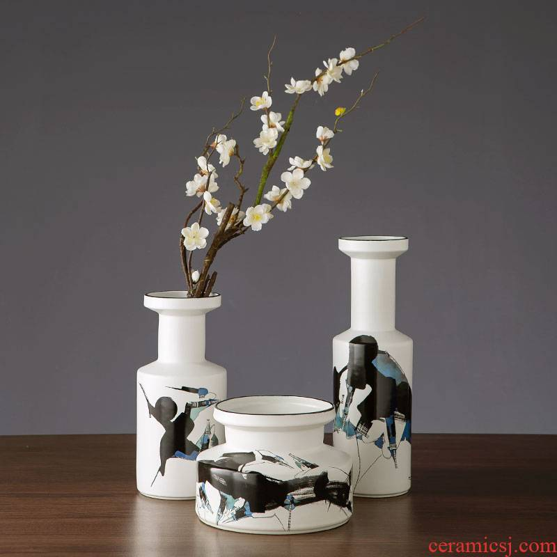 Nordic contracted and I vase furnishing articles creative ceramic household act the role ofing is tasted wine sitting room adornment room TV cabinet