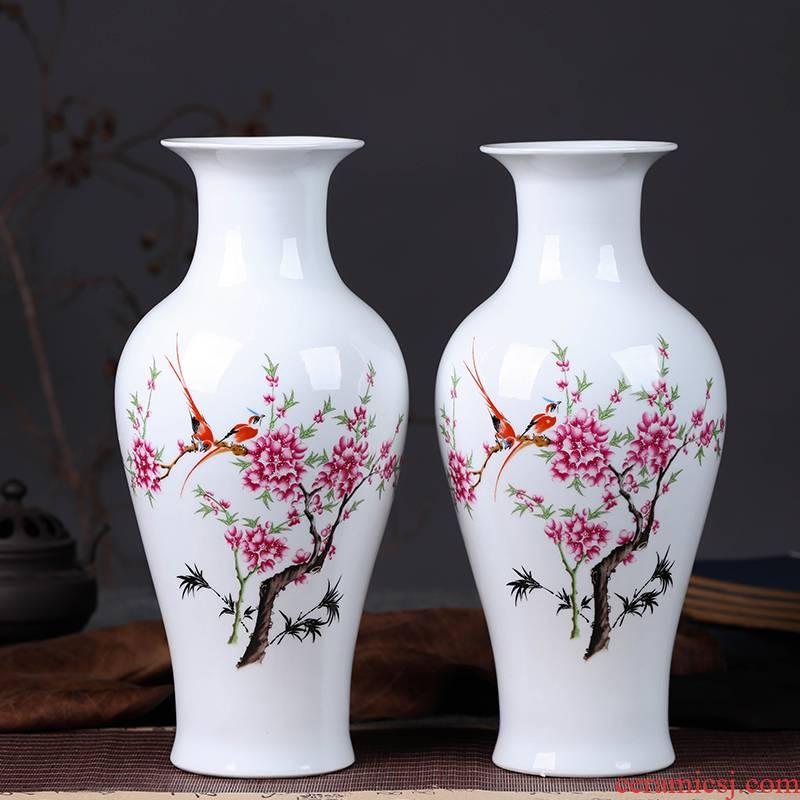 Jingdezhen vase furnishing articles furnishing articles sitting room flower arranging big vase sitting room ground contracted and I ceramic vases, furnishing articles