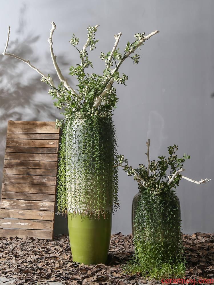 Jingdezhen villa living room big vases show window flower, flower implement landing ceramic decoration furnishing articles