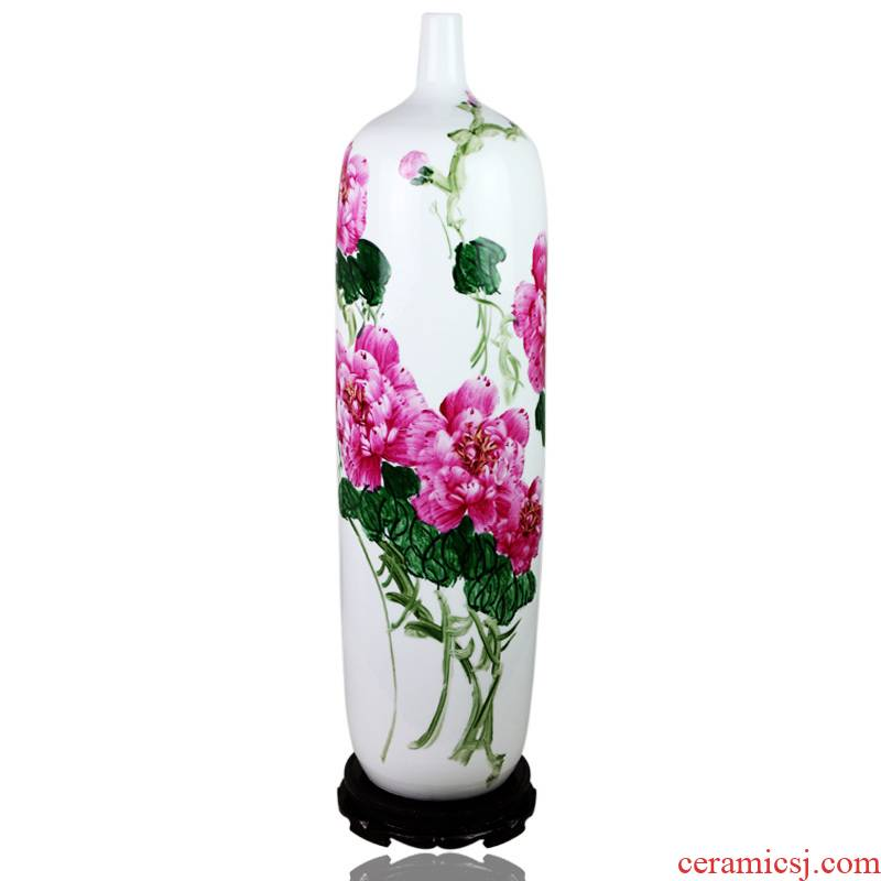 Jingdezhen ceramics famous hand - made vases furnishing articles large aj166 household ground sitting room adornment arts and crafts