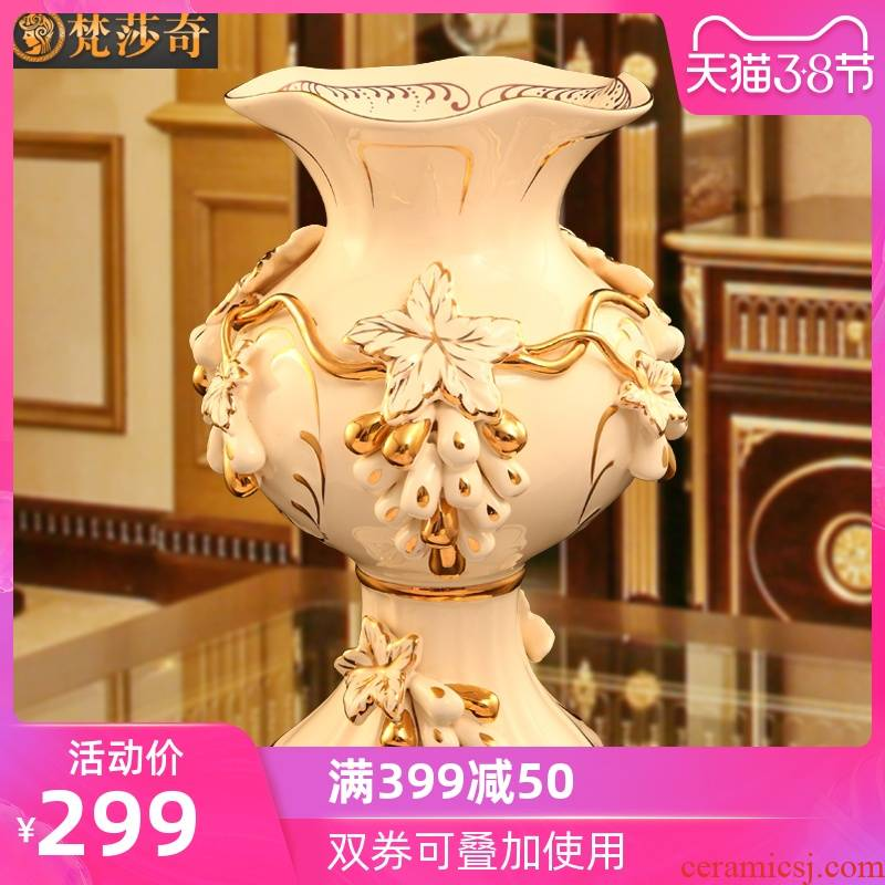 The Vatican Sally 's European ceramic vases, flower arranging dried flowers sitting room adornment size TV ark, home furnishing articles