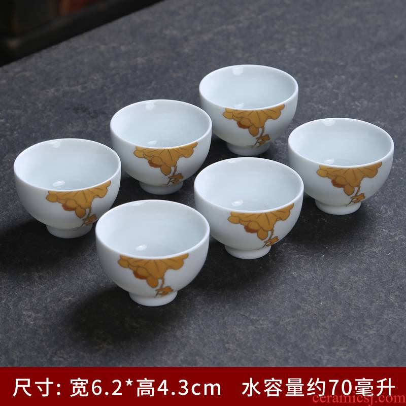 Office of kung fu master single cup 99 sterling silver cup tea cup sample tea cup ceramic coppering. As building light white porcelain cup