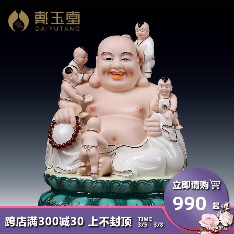 Yutang dai ceramic paint color abital smiling Buddha maitreya Buddha maitreya Buddha home to a bigger
