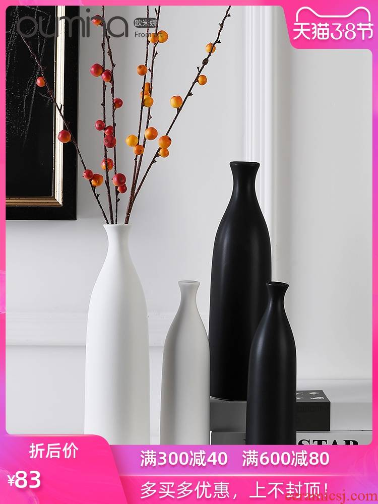 The mina I and contracted ceramic flower implement creative home dry flower arranging flowers adornment ornament furnishing articles to The living room