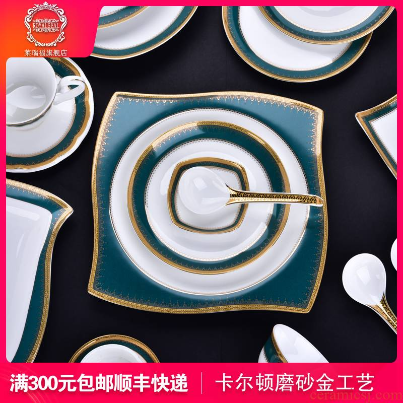 Larry f dishes suit household European - style ipads China jingdezhen ceramics dinner set bowl bowl Chinese plate