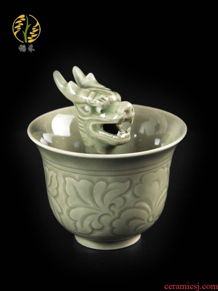 Creative ceramic cup yao state is greedy fair cup a cup of wine goblet suit liquor pot leading cup to pour wine bottle