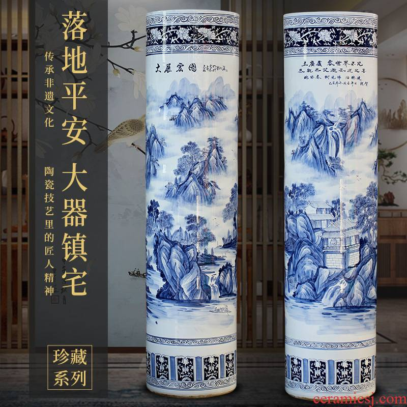 Jingdezhen ceramic hand - made porcelain future quiver vase Chinese style living room a study ground adornment furnishing articles